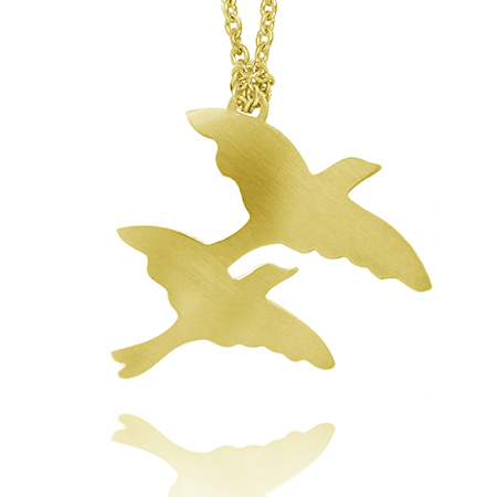 Freedom Birds Necklace - Gold Plated