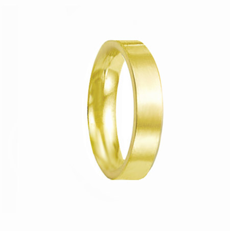 4mm 18ct Yellow Gold Inverted-D Wedding Ring