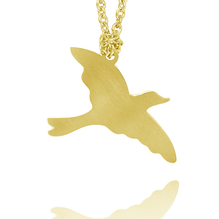 Free Bird Necklace - Gold Plated