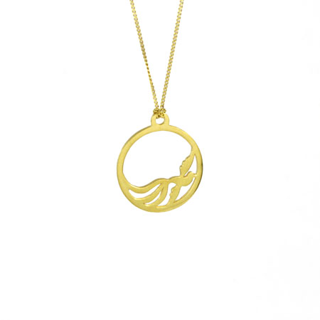 Small phoenix pendant fairtrade gold oria jewellery oria n021 small phoenix pendant aloadofball Images